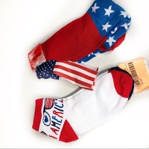 New AMERICAN pride patriotic socks